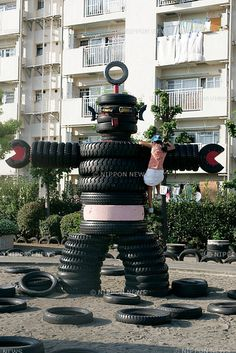 repurposed tires | ... tires, tires, and more tires (over 3000 tires to be exact). There is a
