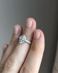 Striking vintage 1.33 carat marquise cut Edwardian engagement ring