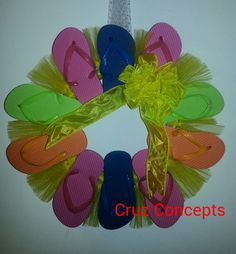 Flip flop wreath summer