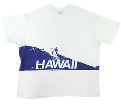 89332666 70's CRAZY SHIRT '' HAWAII '' surfing patterns both sides soaked T-shirt  notation (XL)