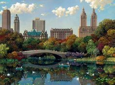 Alexander Chen - Central Park Bow Bridge