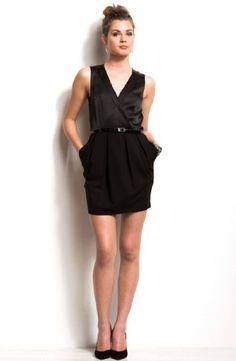 Armani Exchange Textured Twofer Dress