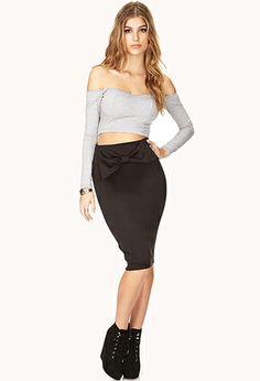 Romantic Bow Midi Skirt | FOREVER21 - 2000090080