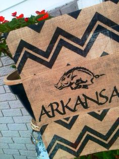 Arkansas Razorbacks GARDEN FLAG Door or Wall by ELouiseBoutique