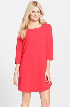 BB Dakota 'Renae' Three Quarter Sleeve Shift Dress available at #Nordstrom