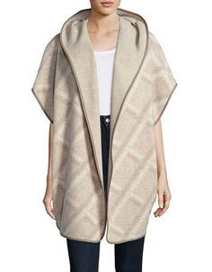 Maxmara Studio Hooded Poncho Women's Sand L/XL