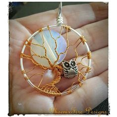 The owl embodies wisdom and intuition. From his perch high in the bare branches of the tree he watches the night's dance under the light of the full moon.   by phoenixfiredesigns