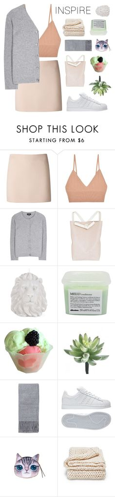 """""""ALL THE BEST PEOPLE ARE CRAZY"""" by wi-fi-li-fe ❤ liked on Polyvore featuring Dsquared2, For Love & Lemons, A.P.C., Fien de Graaf, Zara Home, Davines, Disney, Topshop, adidas and Nina Ricci"""