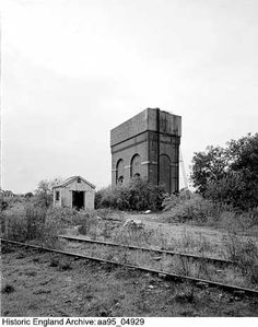 Water tower from the north-east, Whitemoor Rail Marshalling Yard, March, Cambridgeshire Date 20 SEP 1995 Photographer: Alun Bull Historical Images, Horse Drawn, Water Tower, Mount Rushmore, Transportation, March, England, Boat, Horses