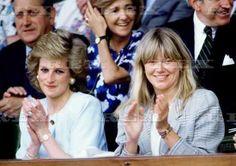 Princess Diana with her friend Kate Menzies watching the Tennis Finals at Wimbledon, London, Britain - 26 Jun 1997