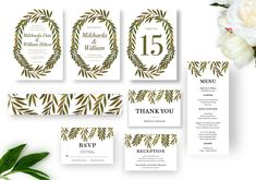 Painted leaves Wedding Invitation suite includes: Wedding Invitation , Save the Date Menu Cards, Table Cards, Christmas Card Template, Painted Leaves, Hand Painted, Stationery Templates, Reception Card, Wedding Templates, Floral Wedding Invitations