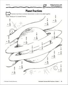 Planet Fractions - Adding Fractions with Unlike Denominators