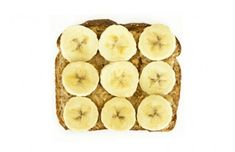 perfect post workout snack: whole-grain toast covered with peanut/almond butter and topped with banana = fiber, carbydrate + protein