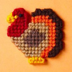Plastic Canvas: Turkey Magnets set of 2 by ReadySetSewbyEvie