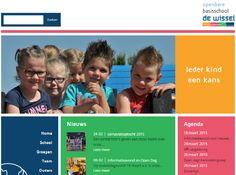 De nieuwe website van onze school.