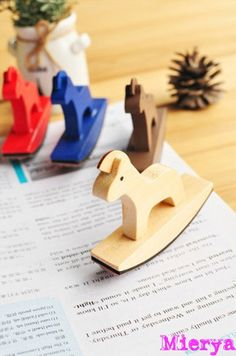 1 Piece Wooden Horse Lace Stamp - Rubber Stamp - Deco Stamp - Zakka - 4 Styles…