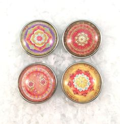 Mandalas Soft Colors  Snap Charm Snap Jewelry Popper by Monibu