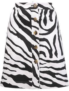 ADAM LIPPES zebra print skirt. #adamlippes #cloth #스커트