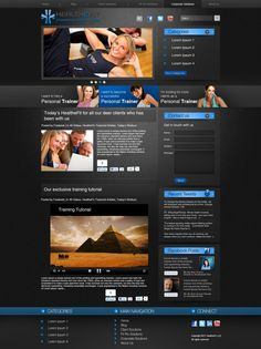 I have Design this Website for a Fitness industry client in Washington,USA.