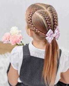 Dance Hairstyles, Kids Braided Hairstyles, Cool Hairstyles, Short Hairstyles For Kids, Short Hair Styles Easy, Short Hair Cuts, Curly Hair Styles, Cool Hair Designs, Girl Hair Dos