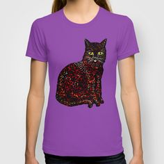 An Cat Dubh (The Black Cat) - T-shirt. #blackcat #black #cats #catoftheday #summer2015 #teeshirts #dotism #bigcat #luckycat #witches #spellbound #magic #whiskers #kitty #urban #ancatdubh #streetwear