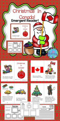 Christmas Around The World Canada Emergent Reader Christmas in Canada Christmas Around The World Canada Emergent Reader Christmas in Canada Jill Richardson TpT Social Studies Lessons Christmas in Canada nbsp hellip Holidays Around The World, Around The Worlds, Canada Christmas, Classroom Hacks, Common Core Reading, 2nd Grade Classroom, Elementary Education, Childhood Education, Emergent Readers