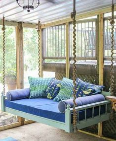 In love with this sleeping porch for the home pinterest diy swing ideas solutioingenieria Image collections