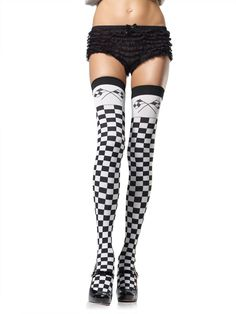c432064402 awesome Checkered Flag Thigh Highs - http   emeliebea.com shop