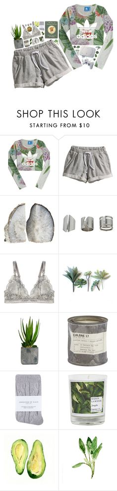 """""""nothing's gonna hurt me with my eyes shut"""" by tanja-bp ❤ liked on Polyvore featuring adidas Originals, H&M, Topshop, STELLA McCARTNEY, Laura Ashley, Le Labo, Johnstons and Maison La Bougie"""