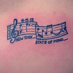"Father/daughter tattoo. Billy Joel's song ""New York State of Mind"" was my dad and mines favorite song since I was little. We both got the tattoo on my 18th birthday"