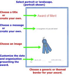Mother's Day, Father's Day, or Grandparents Day - Kids can easily create custom award certificates for their favorite person - DLTK& Custom Printable Awards Award Certificates, Preschool Certificates, Best Teacher, Teacher Stuff, Teaching Resources, Homeschooling Resources, Health And Physical Education, Custom Awards, Piano Teaching
