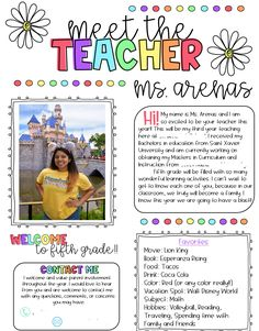 Cute, easy to use meet the teacher template. Great fot back to school night or meet the teacher night!