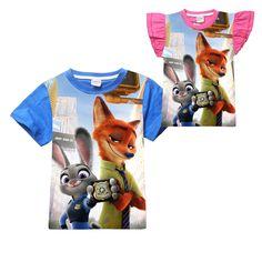 >> Click to Buy << cartoon cute zootopia kids T-shirt lovely rabbit fox cotton Summer short  t-shirt for 4-12yrs children boys girls tops clothes #Affiliate