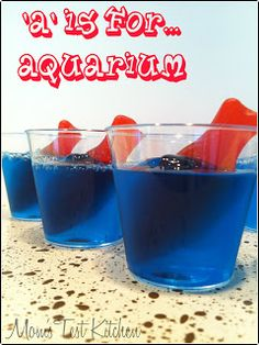 Snack - blue gelatin - fish - Creation day 5 - water stories - fishers of men