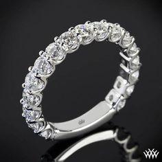Annette's U-Prong Three Quarter Eternity Diamond Wedding Ring – Whiteflash Diamond Wedding Rings, Diamond Bands, Halo Diamond, Diamond Engagement Rings, Ring Ring, Bling Bling, Diamond Dreams, Beautiful Wedding Rings, Thing 1