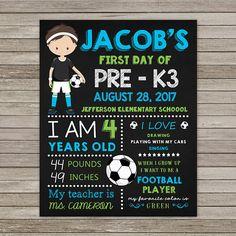 Primer día de Pre-K3 pizarra primer día de Pre Kinder 3