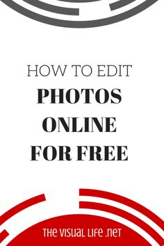 How To Edit #Photos Online Free.