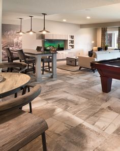 Best to Worst  Grading 13 Basement Flooring Ideas   Basements     Walk out basement in the Monterey Showhome in Auburn Bay