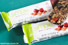 New Favorite On the Go Snack: ZonePerfect Perfectly Simple Bing Cherry & Almond Nutrition Bars.  I REALLY love these.