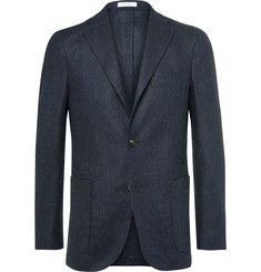 Boglioli - Blue Slim-Fit Herringbone Slub Virgin Wool Blazer