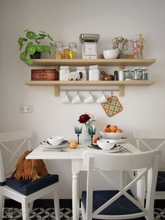 Ikea Ingatorp table and Ingolf chairs