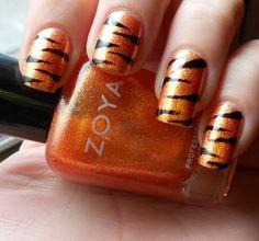 Blueblacksilver tiger stripe nailsnail art pinterest tiger stripes made with zoyas tanzy prinsesfo Choice Image