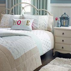 Country Spot Duck Egg Bed Linen Collection | Dunelm