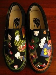 My favorite shoes (vans) and one of my favorite video games (Mario) are together in one.