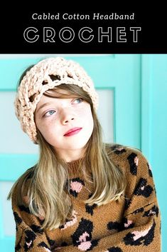 Get everything you need to #crochet a chic, chunky cotton headband, in the latest YarnYAY! by Vickie Howell subscription box. Knit and crochet patterns included,!