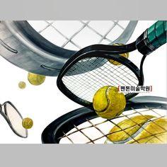 """좋아요 55개, 댓글 3개 - Instagram의 q•_•p(@panton_main)님: """"기초디자인 테니스 공 #라켓 #실기의펜톤 #미대입시생 #강약조절 #그림스타그램 #디대 , 디자인 #실기대회 #홍대 #선릉 #평촌 #학원가 #안양 #군포 #대구 #천안 #서울…"""" Tennis Racket, Projects To Try, Design"""