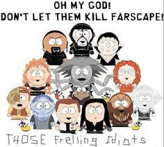 Farscape x South Park Best Sci Fi Shows, Sci Fi Tv Shows, Ben Browder, Alien Creatures, Nerd Humor, Comedy Central, South Park, Nerdy