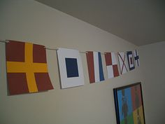 Nautical Flag Banner with link to printables