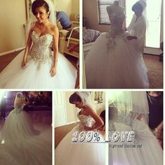Find More Wedding Dresses Information about Free Shipping Sleeveless Luxury Shining Crystal Puffy Ball Gown Pinterest Wedding Dresses,High Quality dress school,China dresses suit size 16 Suppliers, Cheap dress award from 100% Love Wedding Dress & Evening Dress Factory on Aliexpress.com