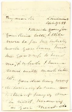 PRESIDENT MARTIN VAN BUREN, HAND WRITTEN AND SIGNED LETTER, DATED JULY, 1858:Martin Van Buren post-presidential hand written and signed letter to Judge John Law